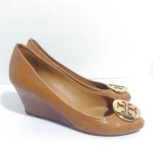 Tory Burch. Julianne peep toe wedge heels